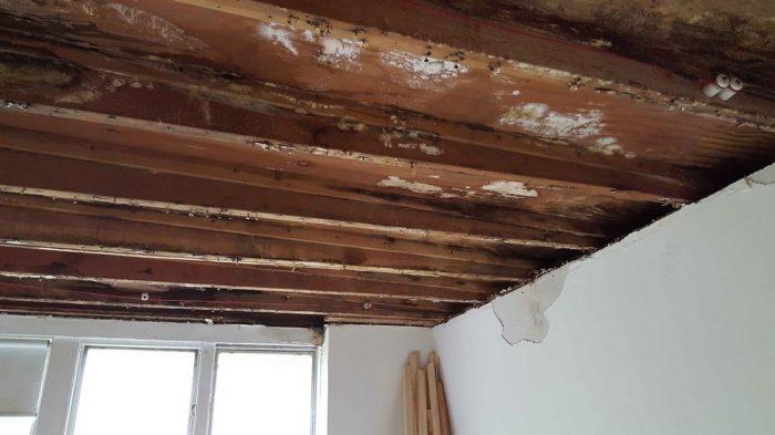 причины порчи потолка