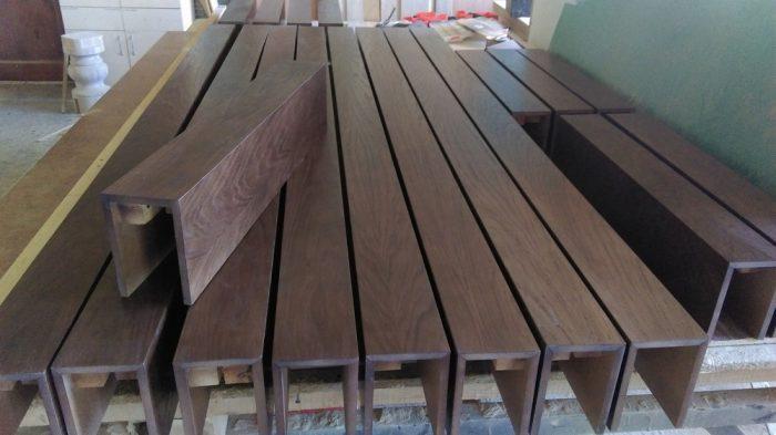 балки из драгоценных пород древесины