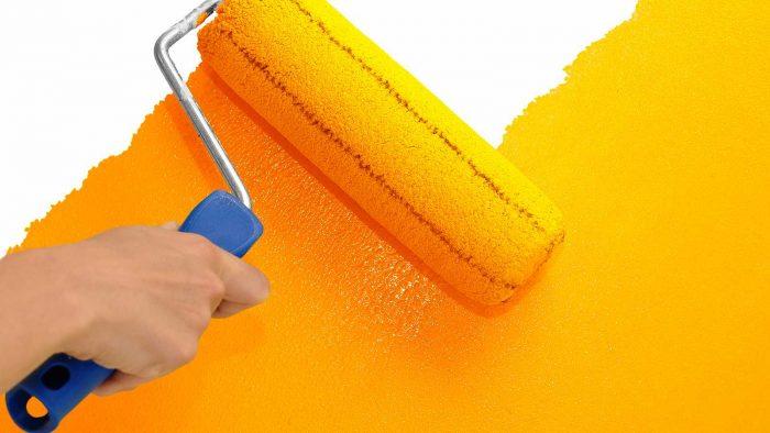 покраска флизелинового покрытия
