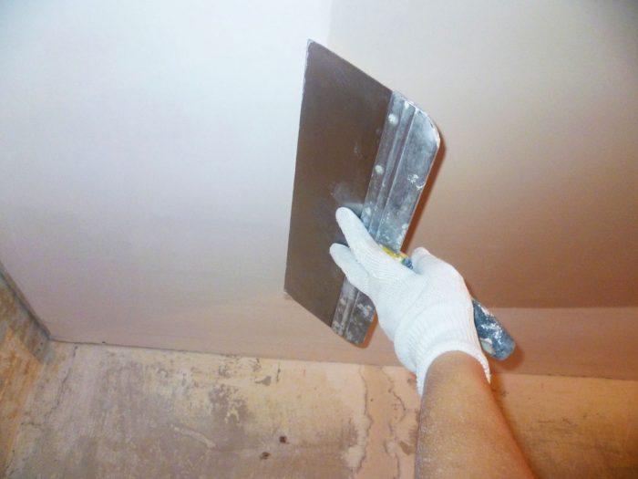 финишная отделка потолка