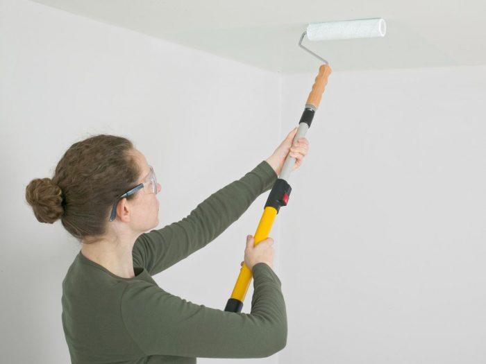 техника покраски валиком