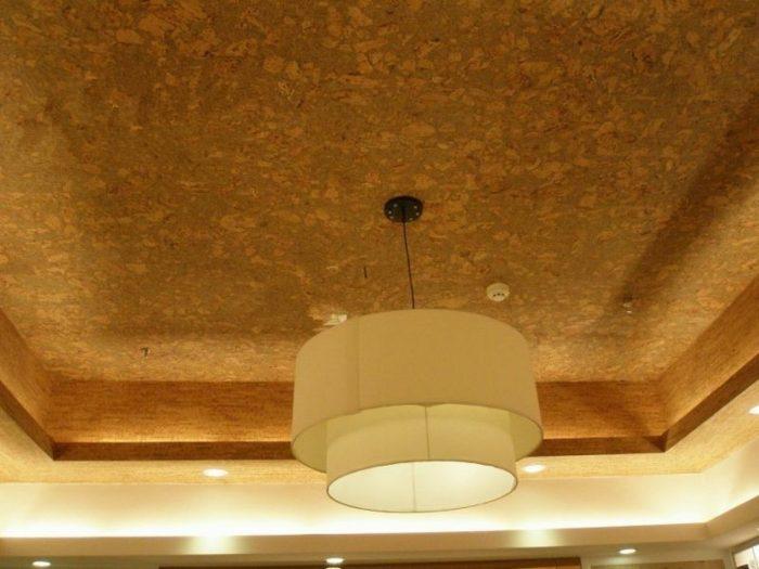 потолочное покрытие пробковое