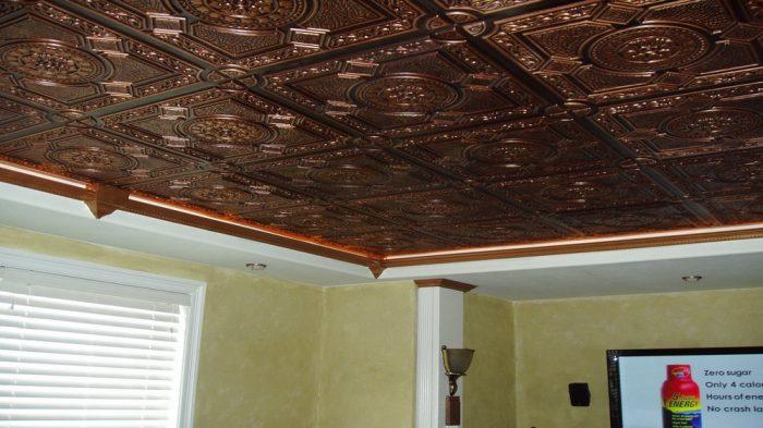 плитка потолочная ламинированная