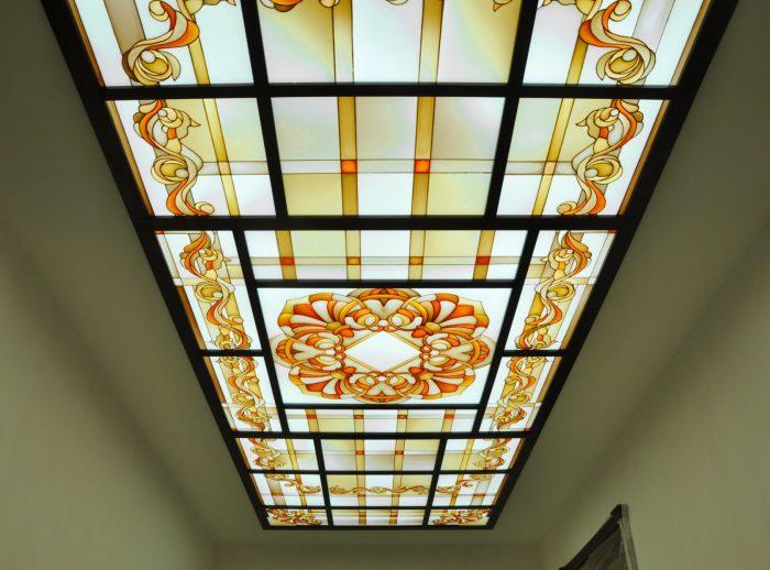 комбинированные витражные потолки
