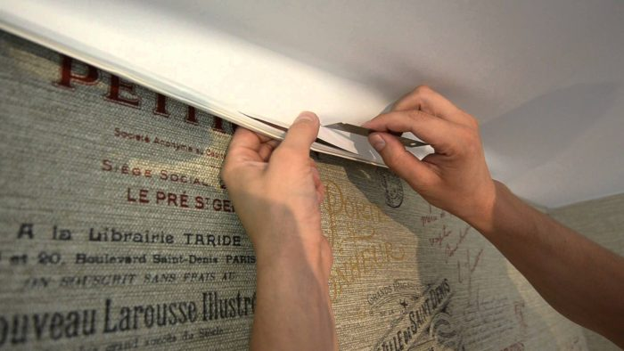 ремонт сатинового потолка