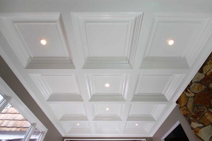 кессонный потолок из гипсокартона
