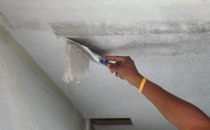 очистка старого покрытия