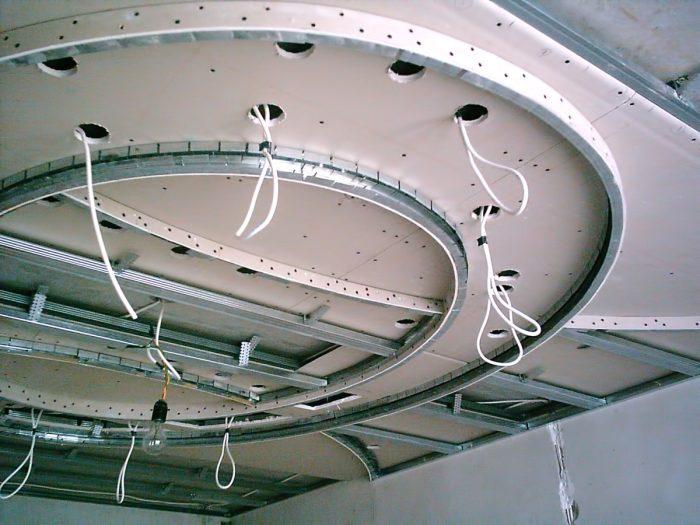 установка каркаса и проводки