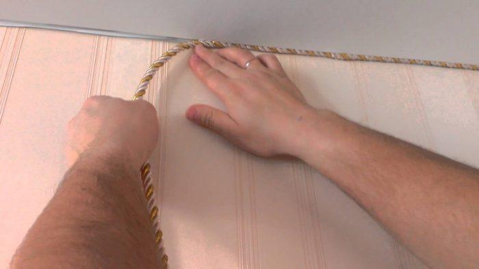 варианты установки шнура