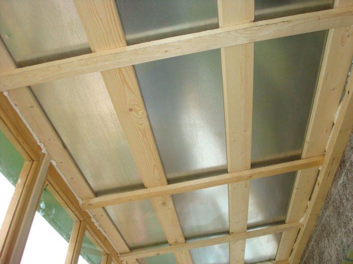установка обрешетки на потолок