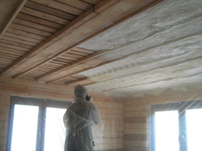 последовательность утепления потолка