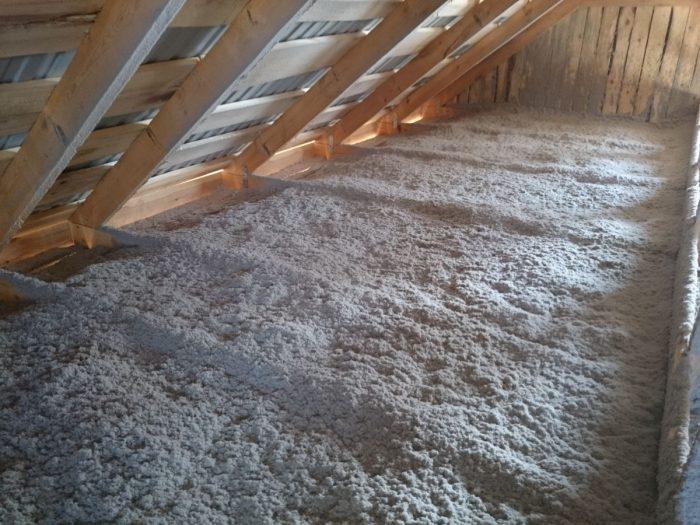 наружное утепления потолка