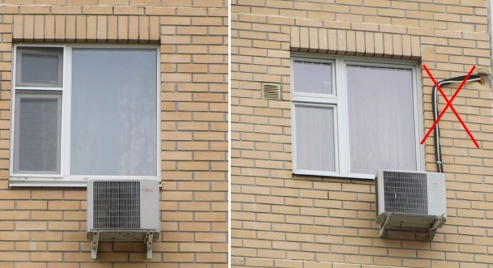 кондиционер на фасаде