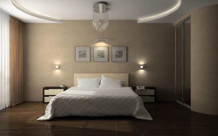 подвесные потолки в спальне