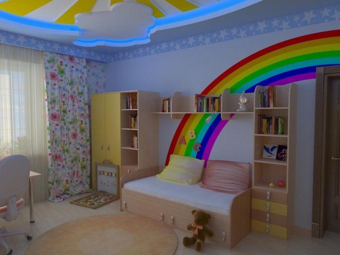 цветовое решение потолка