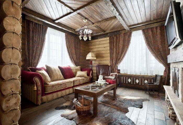 потолок в стиле кантри