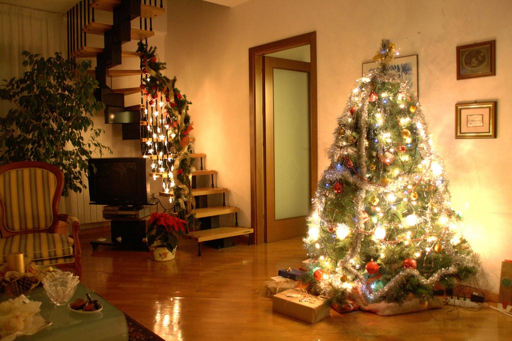 смотреть фото елка дома можно