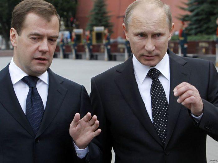 Путин оценил работу Медведева