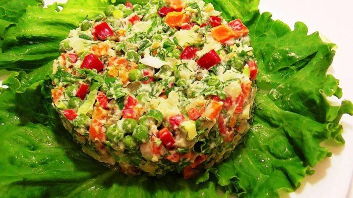 Подборка овощных салатов