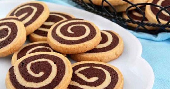 Двухцветное песочное печенье