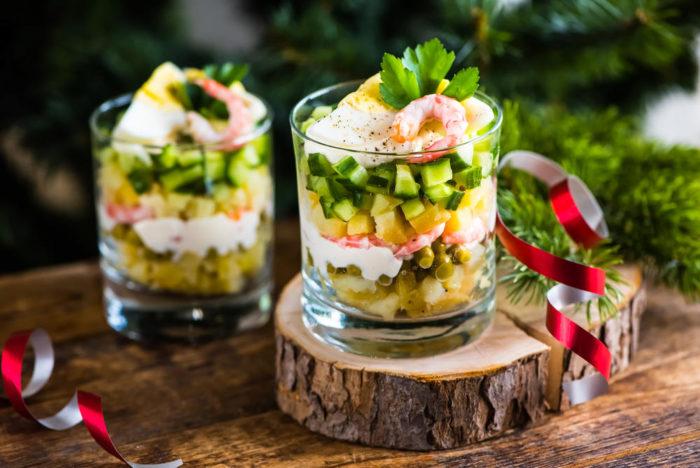 Вкусные салаты для новогоднего стола 2019