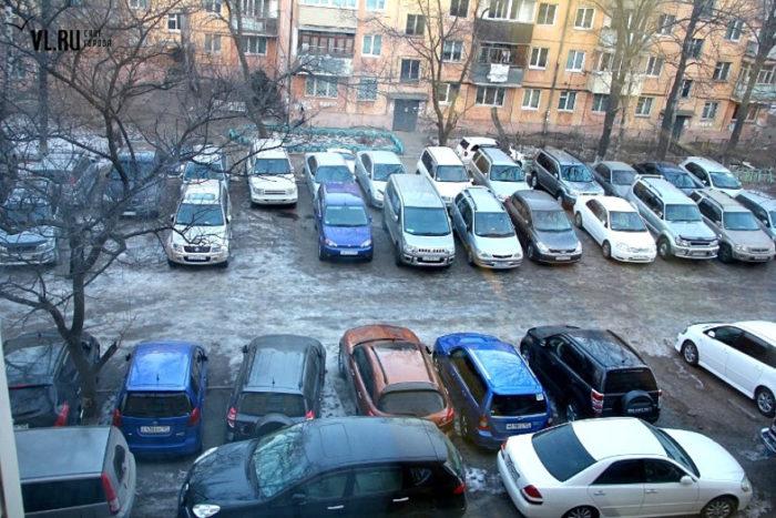 Штрафы за парковку во дворе дома