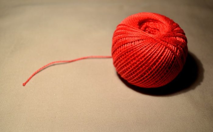Красный клубок