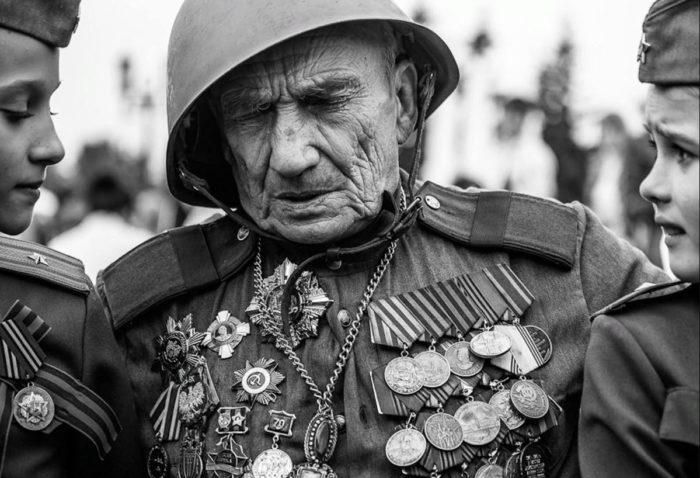 Ветеран в День победы 9 мая