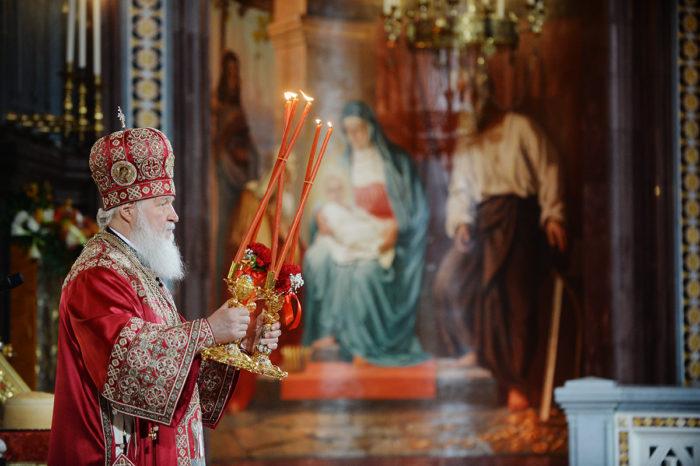 Патриаршее служение в праздник Пасхи Христовой