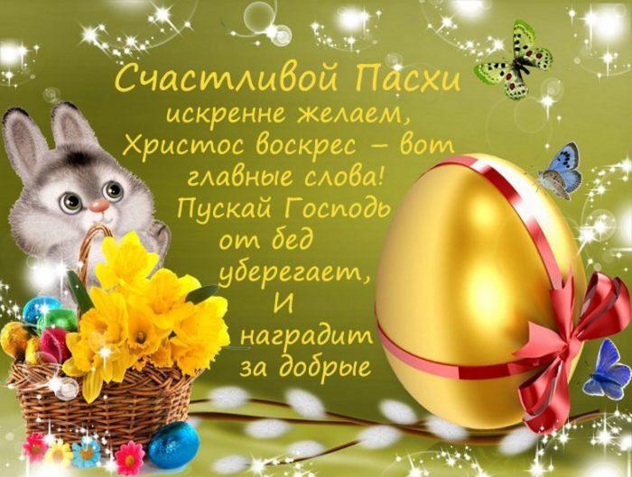 Поздравление с Пасхой открытка