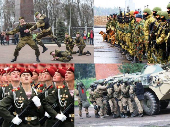 Коллаж на день внутренних войск РФ