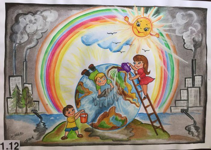 детский рисунок ко дню эколога