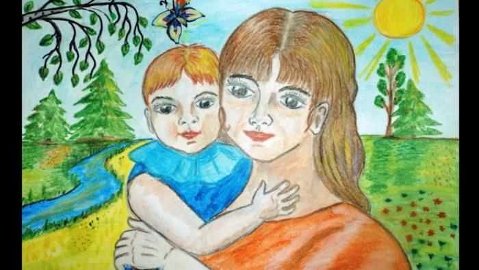 с днем матери красивые рисунки
