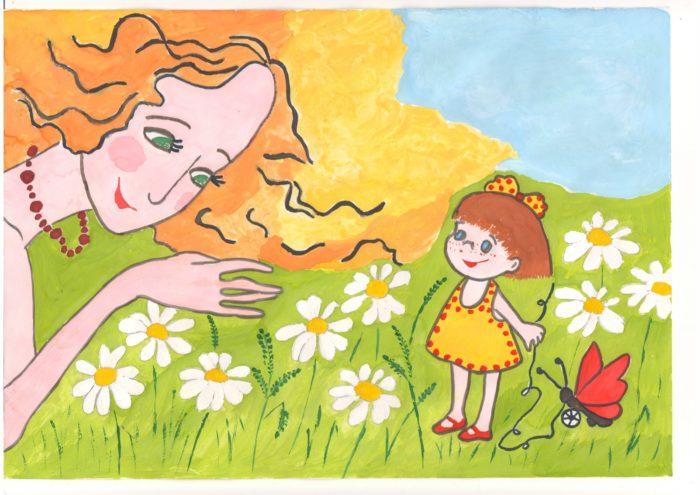 день матери прикольный рисунок