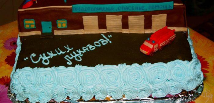 Торт на День пожарной охраны