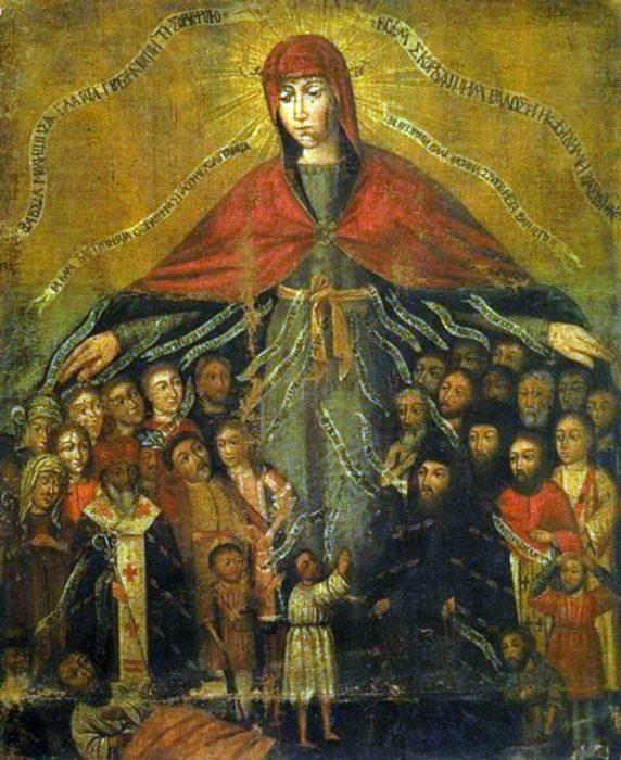 покров пресвятой богородицы икона