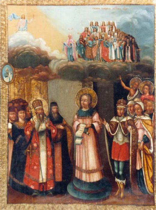 Покров Пресвятой Богородицы икона конца XVIII века