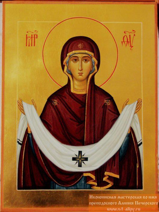 Покров Пресвятой Богородицы икона современная