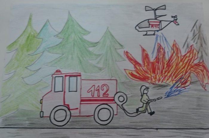 День пожарника детский рисунок
