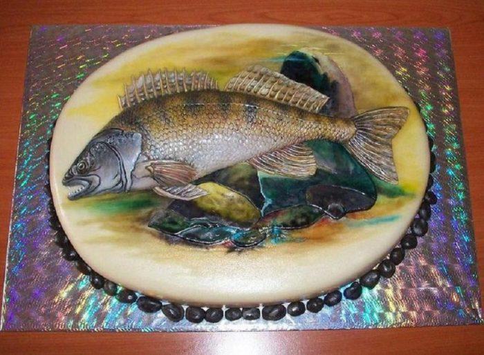 торт в подарок рыбаку