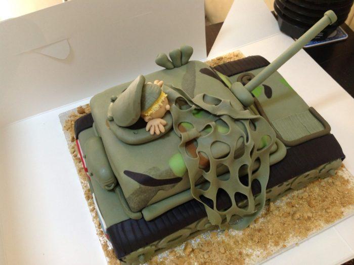 с днем танкиста торт