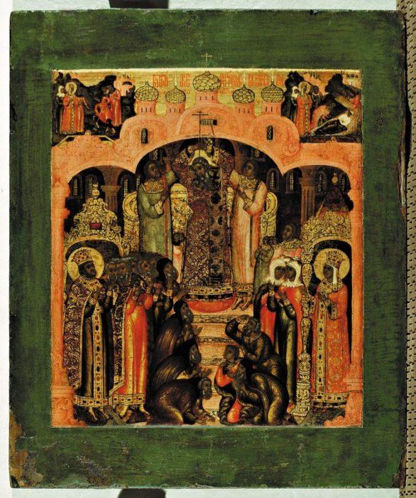 воздвижение креста господня икона