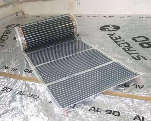 карбоновый теплый пол под плитку