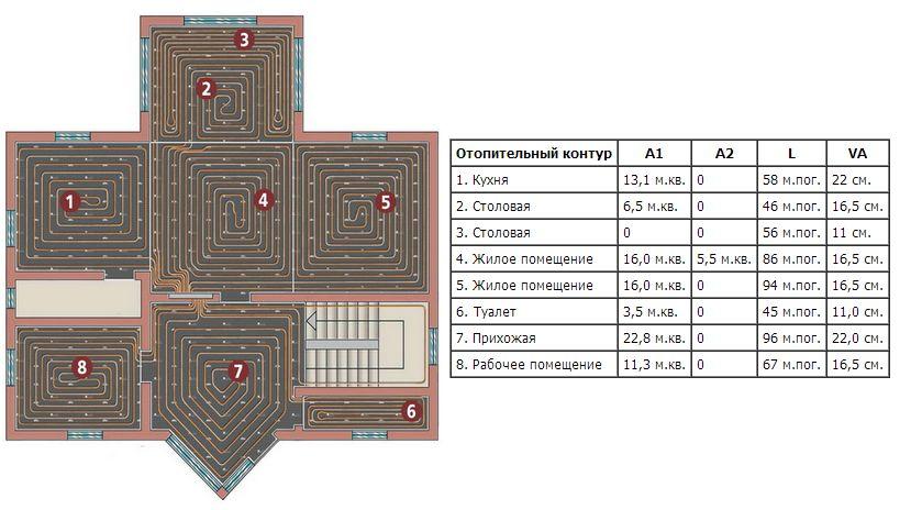 Программа для расчета теплого водяного пола фото 248-464