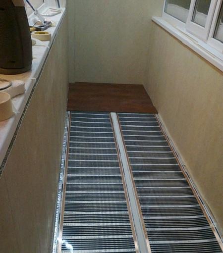 электрический теплый пол на лоджии