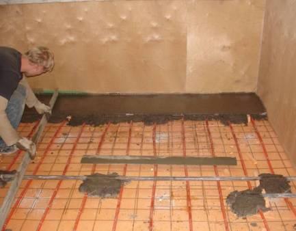 теплый пол водяной проектирование
