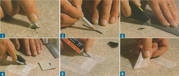 Как заделать дырку в линолеуме без заплатки