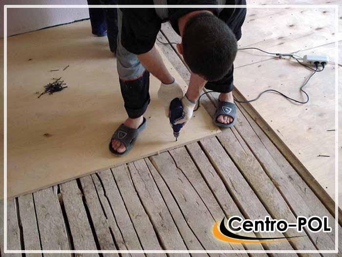 плитка по деревянному полу