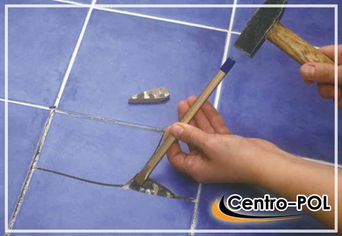 как заменить треснувшую плитку на полу