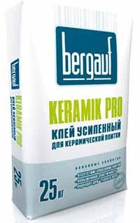 Клей для плитки Бергауф